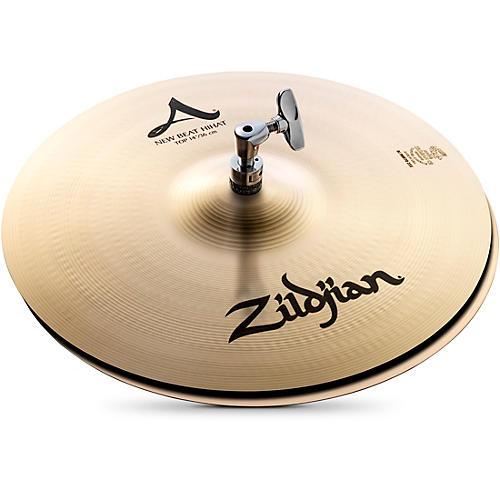 zildjian a series new beat hi hat cymbal pair 14 in guitar center. Black Bedroom Furniture Sets. Home Design Ideas