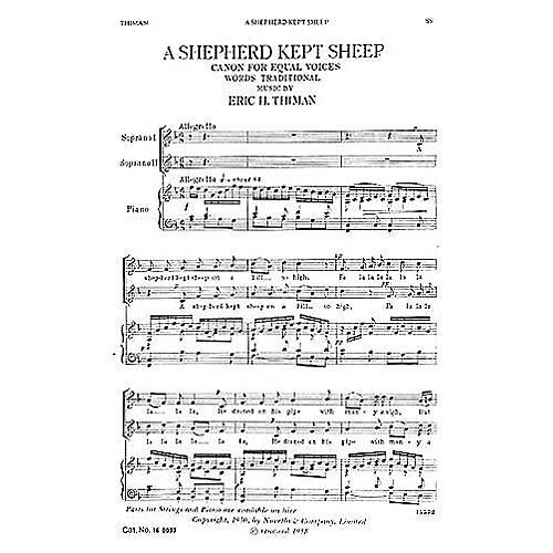 Novello A Shepherd Kept Sheep SS Composed by Eric Thiman