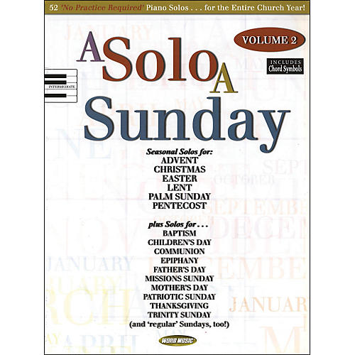 Word Music A Solo A Sunday Volume 2 Piano Solo