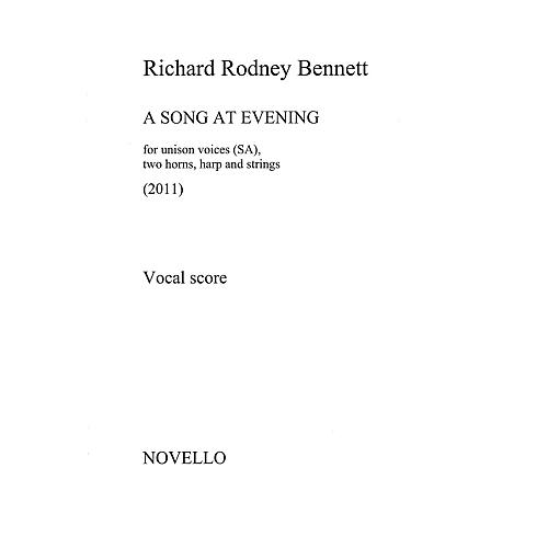 Novello A Song at Evening (Vocal Score) Vocal Score Composed by Richard Rodney Bennett