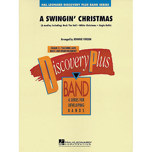 Hal Leonard A Swingin' Christmas - Discovery Plus Concert Band Series Level 2 arranged by Johnnie Vinson