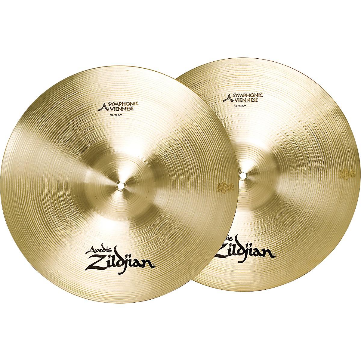 Zildjian A Symphonic Viennese Tone Crash Cymbal Pair