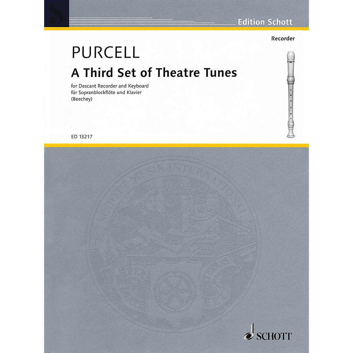 Schott A Third Set of Theatre Tunes (Descant Recorder and Piano) Woodwind Series CD