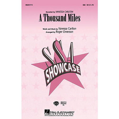 Hal Leonard A Thousand Miles ShowTrax CD by Vanessa Carlton Arranged by Roger Emerson