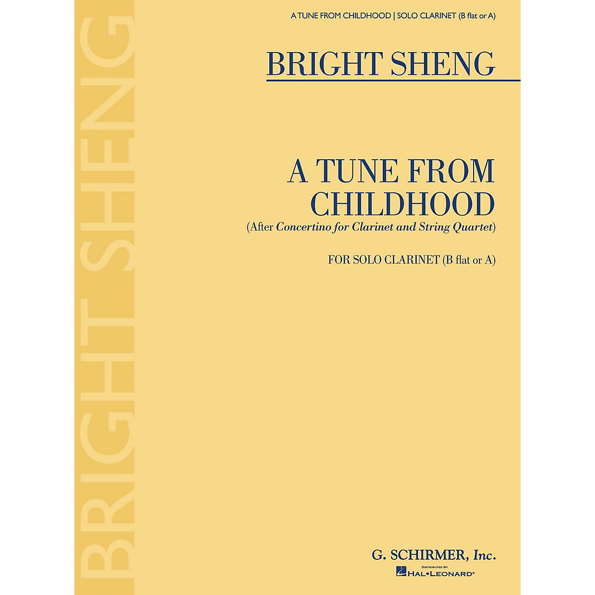 G. Schirmer A Tune from Childhood (After Concertino for Clarinet and String Quartet) Woodwind Solo Series Softcover