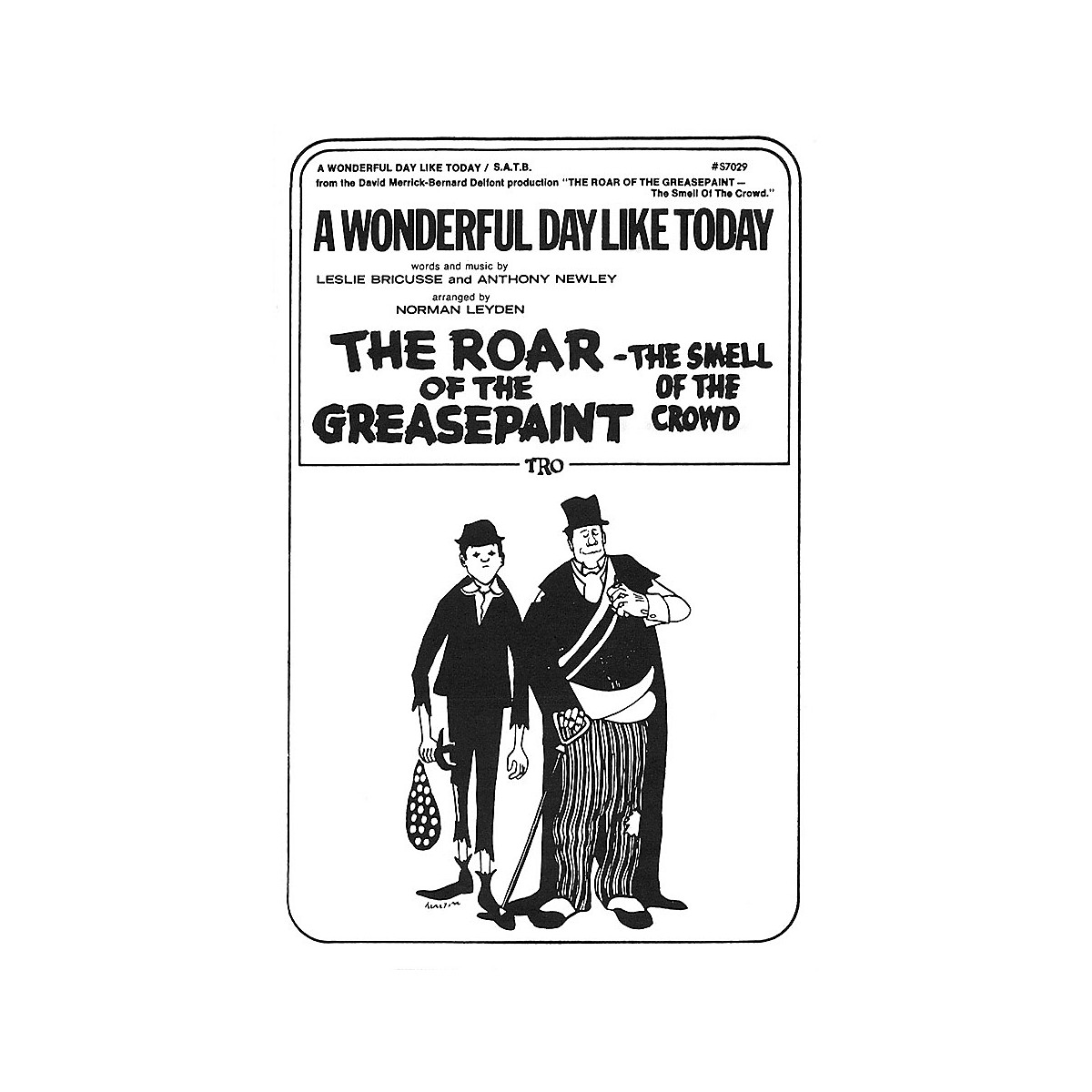 TRO ESSEX Music Group A Wonderful Day Like Today SATB Arranged by Norman Leyden