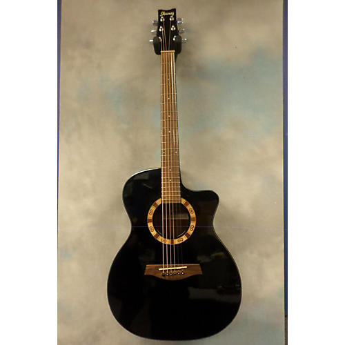 Ibanez A100EBK Black Acoustic Electric Guitar