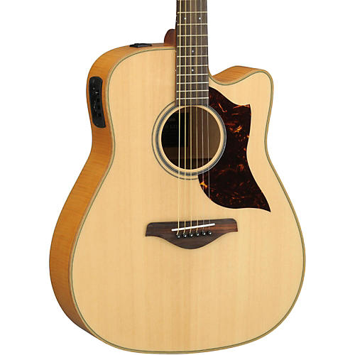 Yamaha A1FMHC A-Series Flame Maple Dreadnought Acoustic-Electric Guitar with SRT Pickup