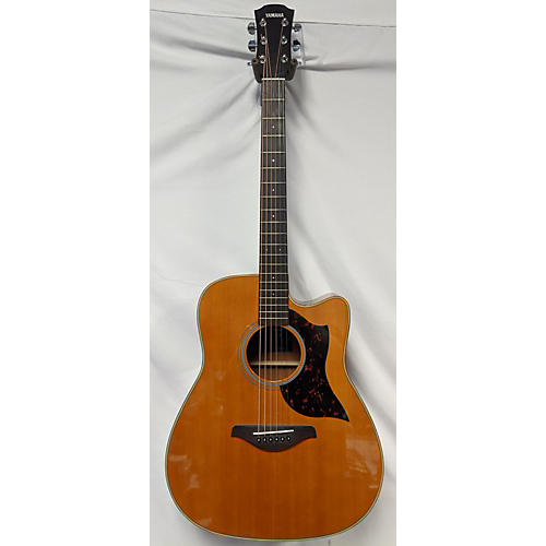 used yamaha a1m acoustic electric guitar natural guitar center. Black Bedroom Furniture Sets. Home Design Ideas