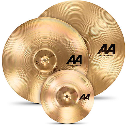 sabian aa crash cymbal set with free 10 splash guitar center. Black Bedroom Furniture Sets. Home Design Ideas