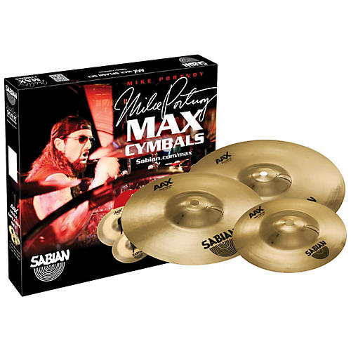 Sabian AAX Max Splash Cymbal Set Brilliant Finish