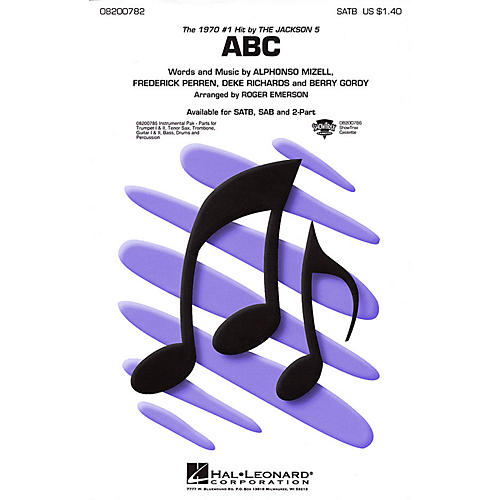 Hal Leonard ABC Combo Parts by The Jackson 5 Arranged by Roger Emerson