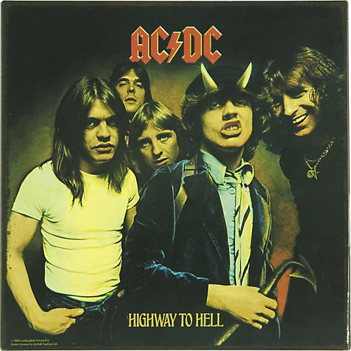 Gear One AC/DC Highway to Hell Metal Sign