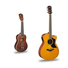 AC1M Cutaway Concert Acoustic-Electric Guitar and Ukulele Package Natural