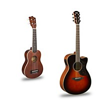 AC1M Cutaway Concert Acoustic-Electric Guitar and Ukulele Package Tobacco Sunburst