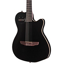 ACS-SA Slim Nylon String Cedar Top Acoustic-Electric Guitar Black Pearl