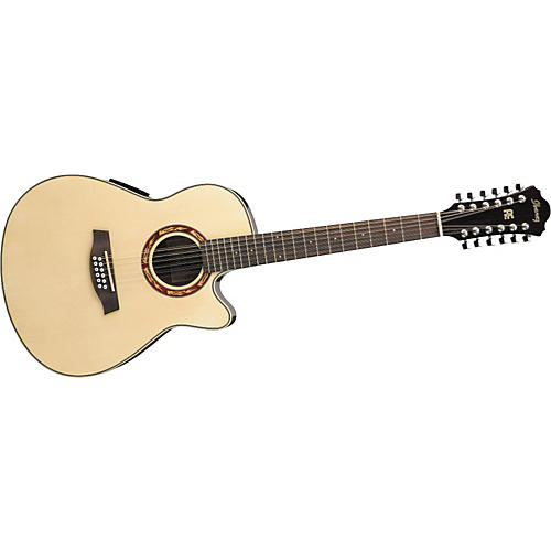 ibanez aef1812e 12 string cutaway acoustic electric guitar with onboard tuner guitar center. Black Bedroom Furniture Sets. Home Design Ideas