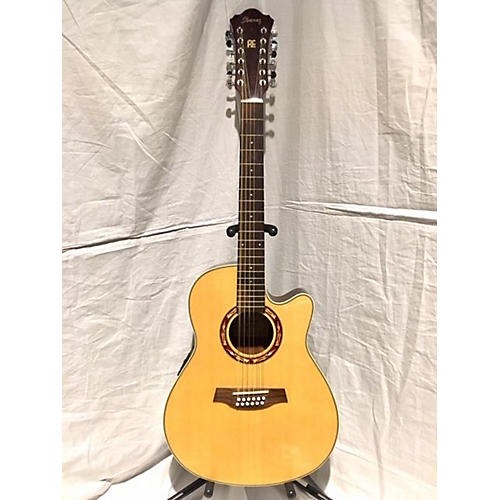 used ibanez aef1812nt1201 12 string acoustic electric guitar natural guitar center. Black Bedroom Furniture Sets. Home Design Ideas