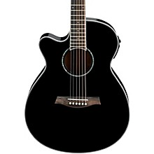 AEG10LII Lefty Cutaway Acoustic-Electric Guitar Level 2 Black 190839750013