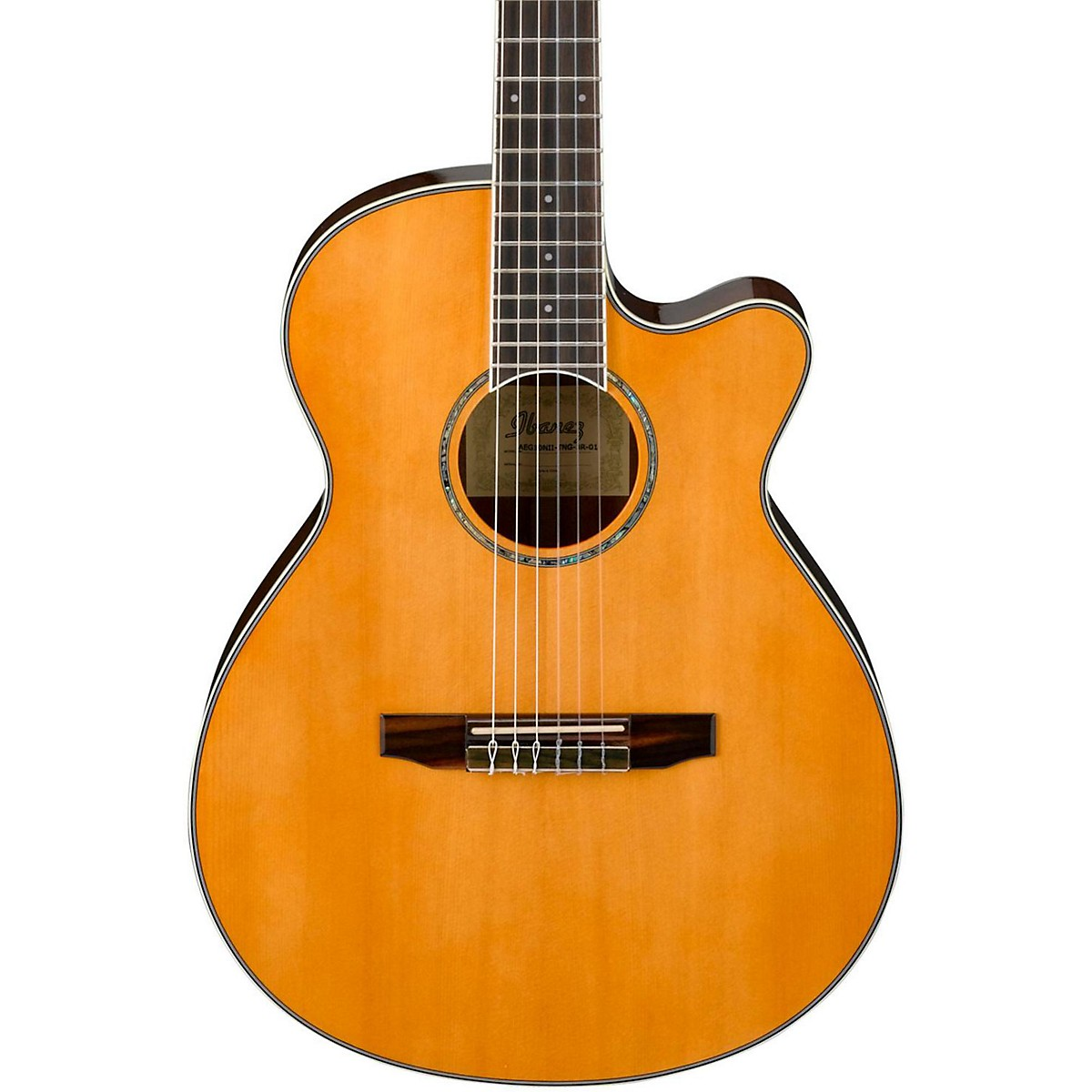 Ibanez AEG10NII Nylon String Cutaway Acoustic-Electric Guitar