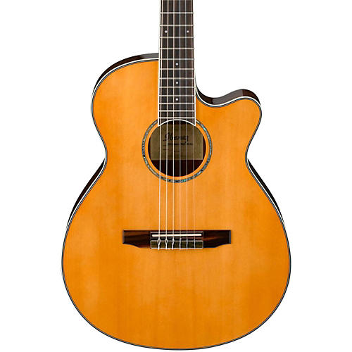 ibanez aeg10nii nylon string cutaway acoustic electric guitar tangerine guitar center. Black Bedroom Furniture Sets. Home Design Ideas