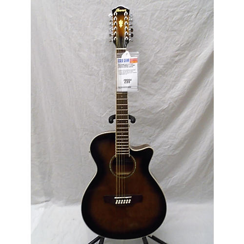 used ibanez aeg1812ii dvs 12 string acoustic electric guitar tobacco sunburst guitar center. Black Bedroom Furniture Sets. Home Design Ideas