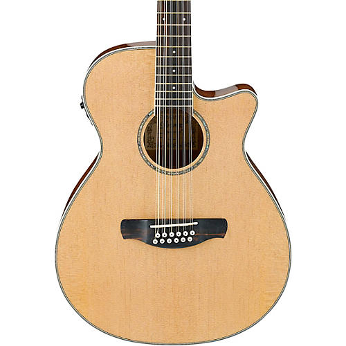 ibanez aeg1812iint 12 string acoustic electric guitar high gloss natural guitar center. Black Bedroom Furniture Sets. Home Design Ideas