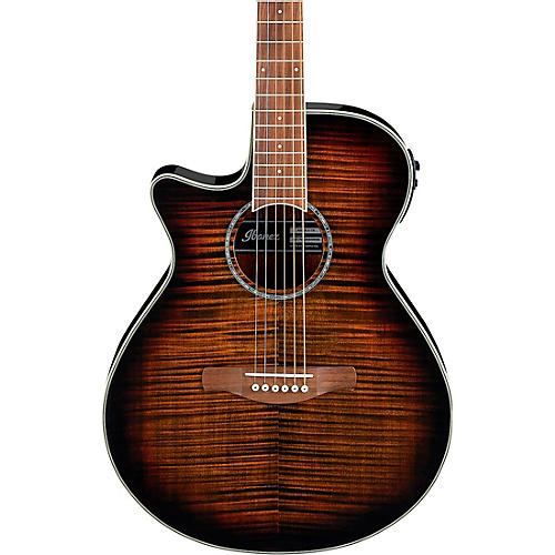Ibanez AEG19LII Left-Handed Acoustic-Electric Guitar with Flamed Maple Top