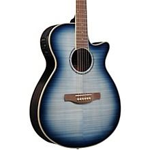 AEG20II Flamed Sycamore Top Cutaway Acoustic-Electric Guitar Blue Burst