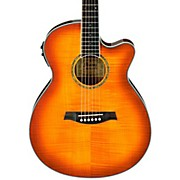AEG20II Flamed Sycamore Top Cutaway Acoustic-Electric Guitar Vintage Violin