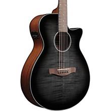 AEG70 Flamed Maple Top Grand Concert Acoustic-Electric Guitar Transparent Charcoal Burst
