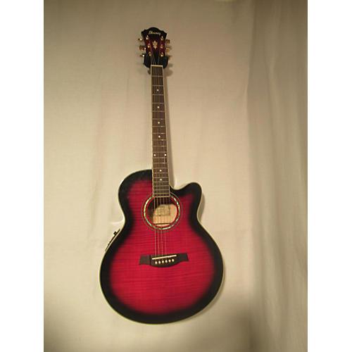 used ibanez ael20e acoustic electric guitar crimson red trans guitar center. Black Bedroom Furniture Sets. Home Design Ideas