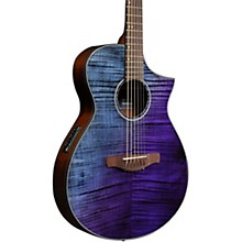 AEWC32FM Thinline Acoustic-Electric Guitar Purple Sunset Fade High Gloss