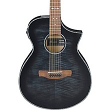 AEWC4012FM 12-String Acoustic-Electric Guitar Level 2 Transparent Black Burst 194744048647