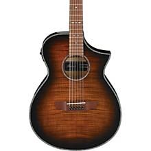 AEWC4012FM 12-String Acoustic-Electric Guitar Level 2 Transparent Tiger Eye 190839666420