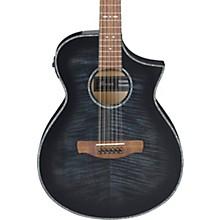 AEWC4012FM 12-String Acoustic-Electric Guitar Transparent Black Burst