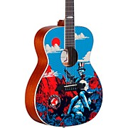 AF60GD Grateful Dead OM Acoustic Guitar Sunshine