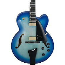 AFC Contemporary Archtop Electric Guitar Level 2 Jet Blue Burst 190839269874
