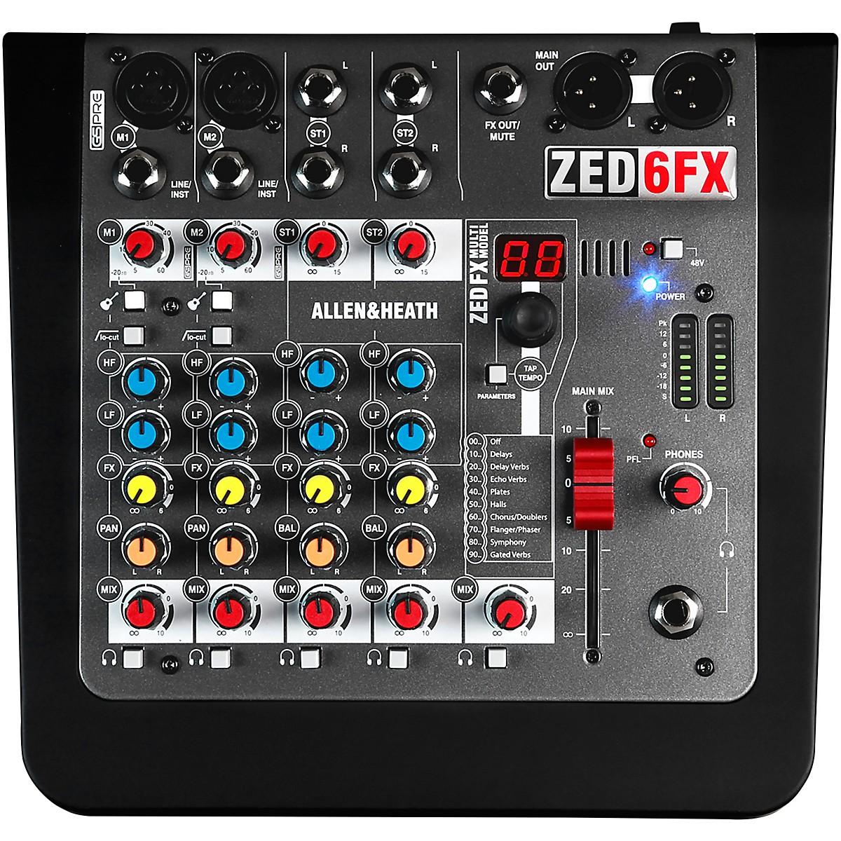 Allen & Heath AH-ZED6FX 6-Channel Mixer With FX