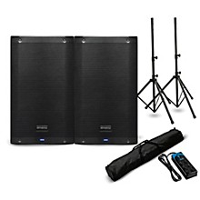 """Presonus AIR10 10"""" Powered Speaker Pair with Stands and Power Strip"""