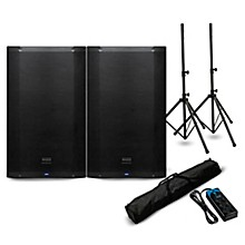 """Presonus AIR15 15"""" Powered Speaker Pair with Stands and Power Strip"""
