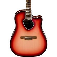 ALT30 Altstar Dreadnought Acoustic-Electric Guitar Transparent Red Sunburst