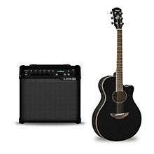APX600 Acoustic-Electric Guitar and Line 6 Spider V 30 Guitar Combo Amp Black