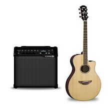 APX600 Acoustic-Electric Guitar and Line 6 Spider V 30 Guitar Combo Amp Natural