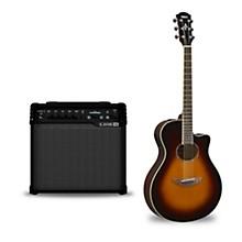 APX600 Acoustic-Electric Guitar and Line 6 Spider V 30 Guitar Combo Amp Old Violin Sunburst