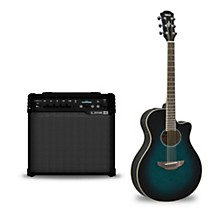APX600 Acoustic-Electric Guitar and Line 6 Spider V 30 Guitar Combo Amp Oriental Blue Burst