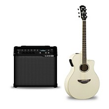 APX600 Acoustic-Electric Guitar and Line 6 Spider V 30 Guitar Combo Amp Vintage White