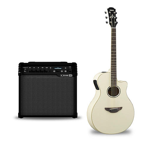 yamaha apx600 acoustic electric guitar and line 6 spider v 30 guitar combo amp vintage white. Black Bedroom Furniture Sets. Home Design Ideas