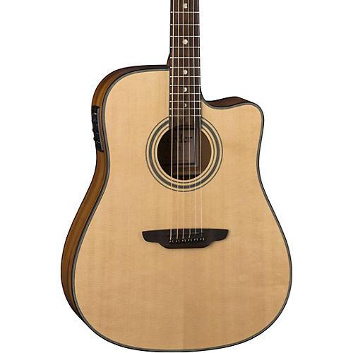 Luna Guitars ART Recorder Dreadnought Cutaway Acoustic-Electric Guitar