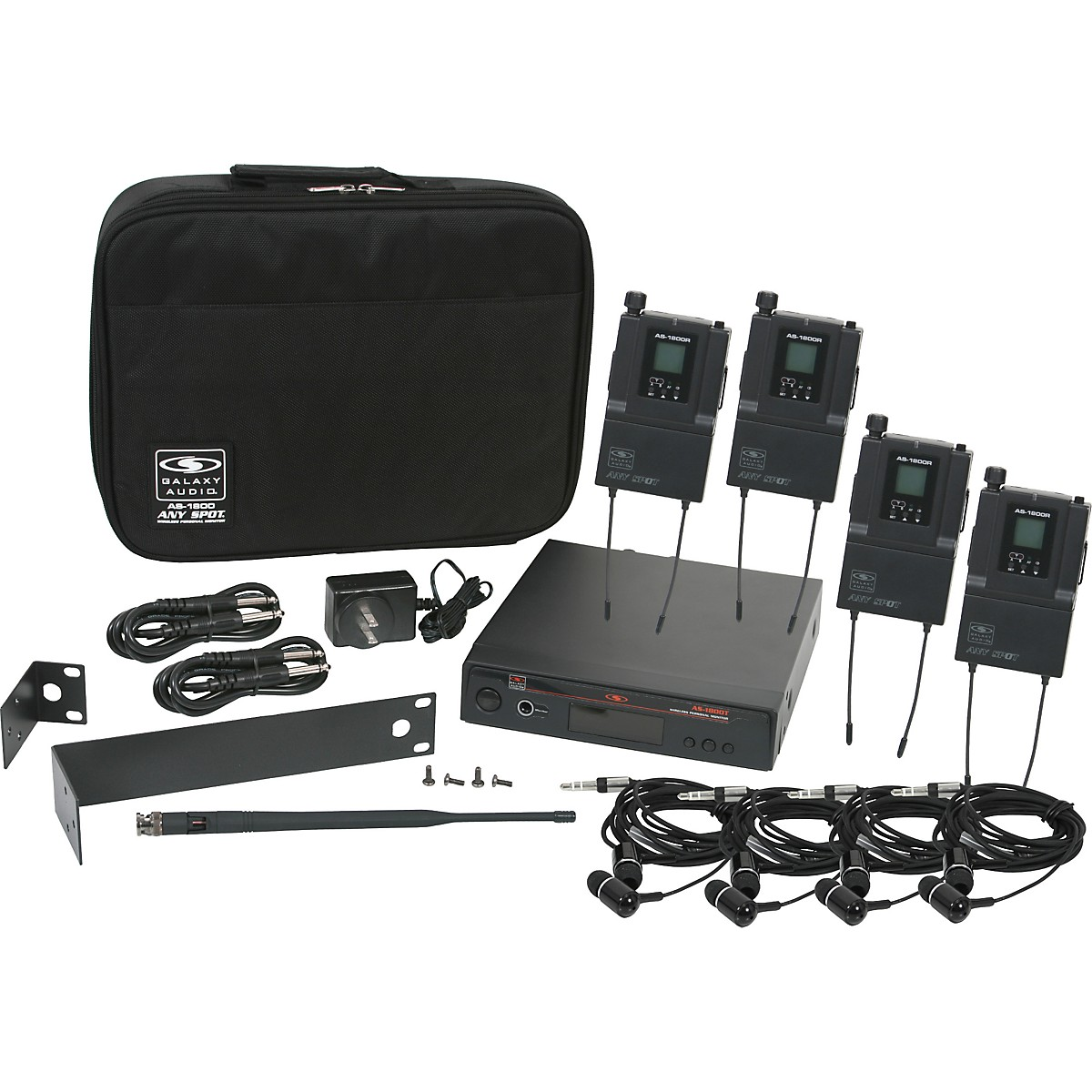 Galaxy Audio AS-1800-4 Band Pack Wireless System